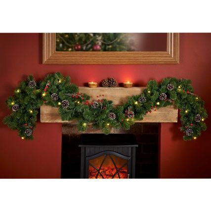 302322-6ft-Pre-lit-Garland-with-Cones-and-Berries http://www.bmstores.co.uk/products/pre-lit-garland-with-cones-and-berries-6ft-302322