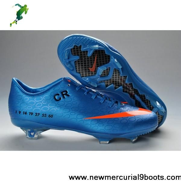 Discount cristiano ronaldo 6th style CR exclusive personal nike mercurial FG blue pink black Soccer Boots For Sale