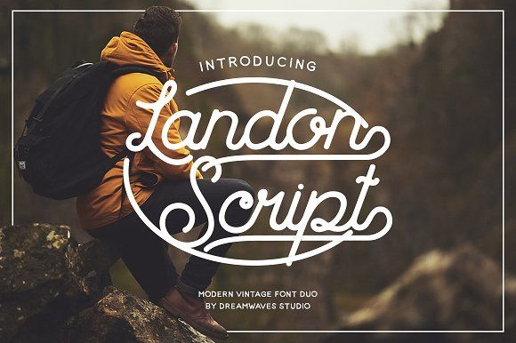 Landon Script  by dreamwaves on @creativemarket