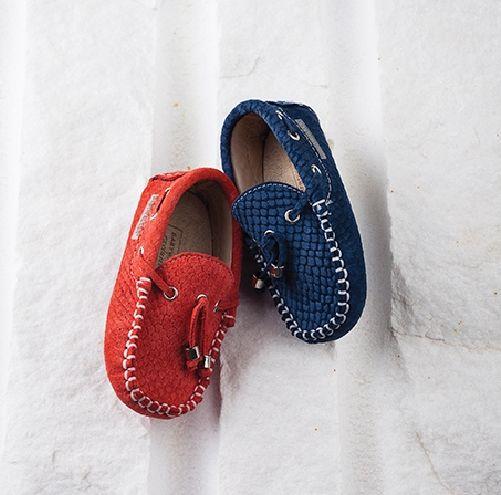 BABYWALKER από ανάγλυφο δέρμα σε καρπουζί kai blue www.angelscouture shop online