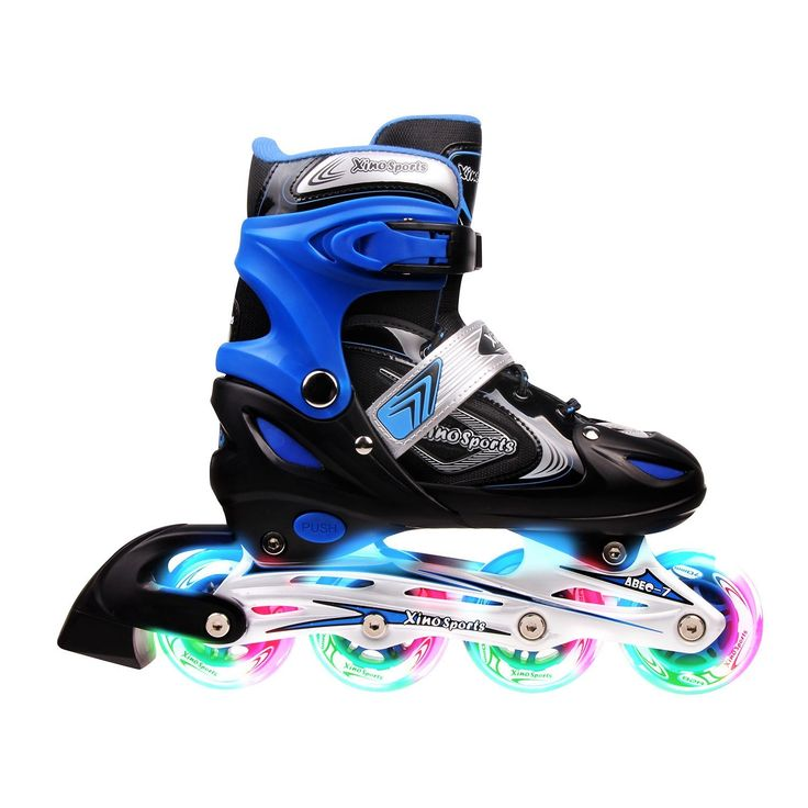 Adjustable Inline Skates for Kids, Featuring Illuminating Front Wheels, Awesome-looking, Comfortable, Safe and Durable Rollerblades, For Boys and Girls, 60-day Guarantee!