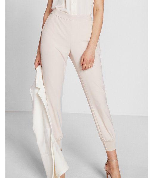 Soft Twill Dressy Jogger Pant Pink Women's XX Small