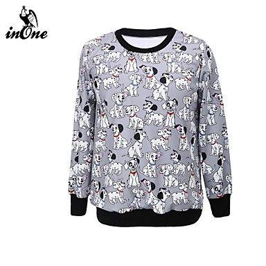 De inone ™ vrouwen 3d digitaal printen mode sportoverhemd leuke bovenkleding hoodies&sweatshirts – EUR € 18.17