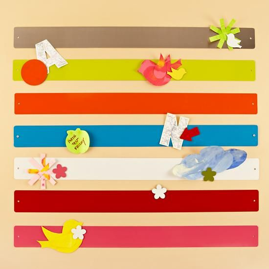 The Land of Nod | Kids' Bulletin Boards: Kids Colorful Magnet Bar Strips in Magnet Boards    Perfect for the kid's artwork