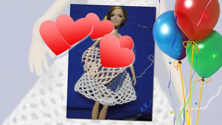 Юбка для куклы Барби. Вязание юбки. Свадебная юбка для Барби.