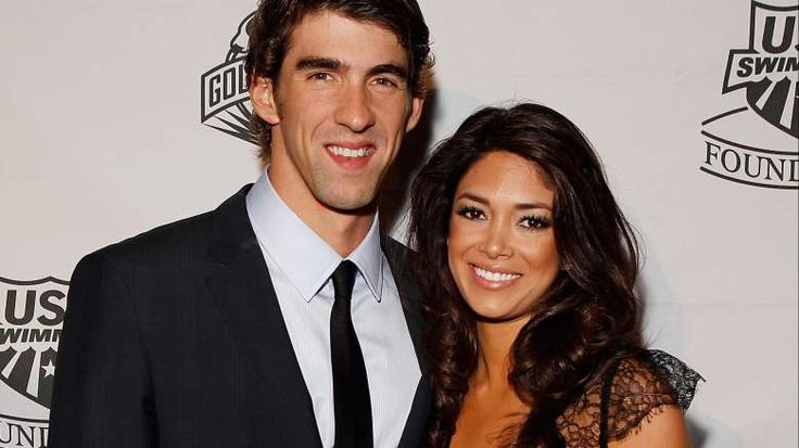 Michael Phelps & Nicole Johnson, 2010 MISS CALIFORNIA COMPETITOR, USC GRADUATE AND MOTHER OF HIS SON, BOOMER