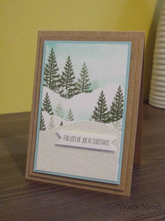 Stampin' Up! - Festival Of Trees - Christmas Cards - Stamping With Val - Valerie Moody; Independent Stampin' Up! Demonstrator. X