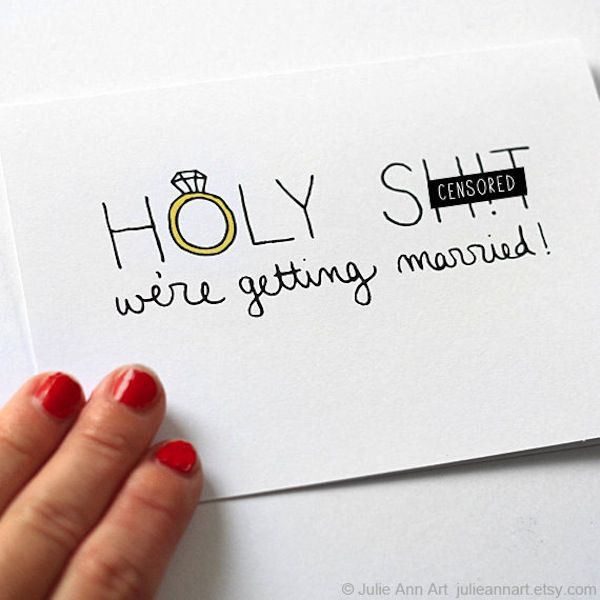 3 cool ways to announce your engagement, and the lamest way to break the news - Wedding Party