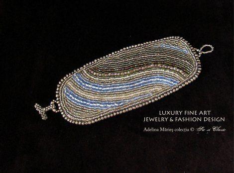 bracelet haute couture embroidery fashion 2014 biuterii de argint bratara colectia Sic si Clasic Baia Mare fabricat in Maramures