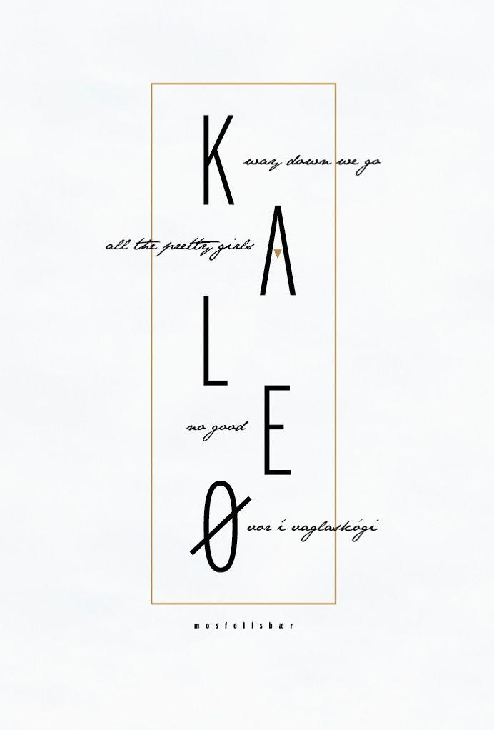 Kaleo band poster, band, poster design, poster, music album, fan art, album, music, graphic design, simple design, clean design, nature, nat in My Stuff