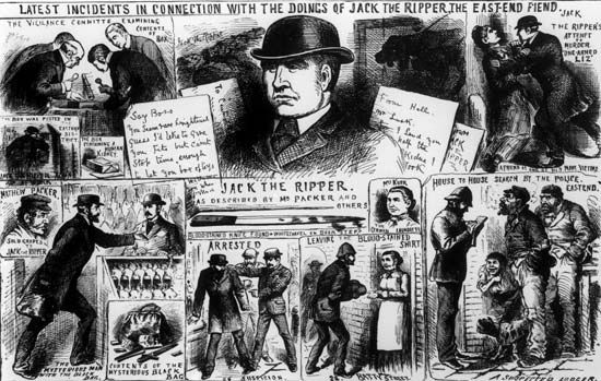 Pseudonymous murderer of at least five women, all prostitutes, in or near the Whitechapel district of London's East End, between August and November 1888. The case is one of the most famous unsolved mysteries...