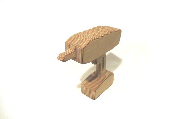 Holzspielzeug – rontool AKKUSCHRAUBER für kleine Handwerker – ein Designerstüc…