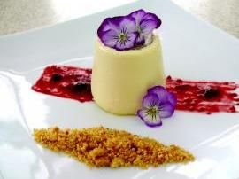 Vanilla Panna Cotta with a Milk Crumb and Berries by Justine77777 on www.recipecommunity.com.au