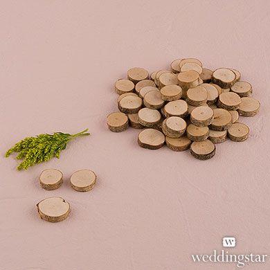 Miniature Natural Birch Wood Circle Slices