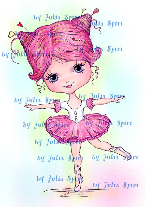 Digital Digi Stamps Scrapbooking printable Ballet por JuliaSpiri