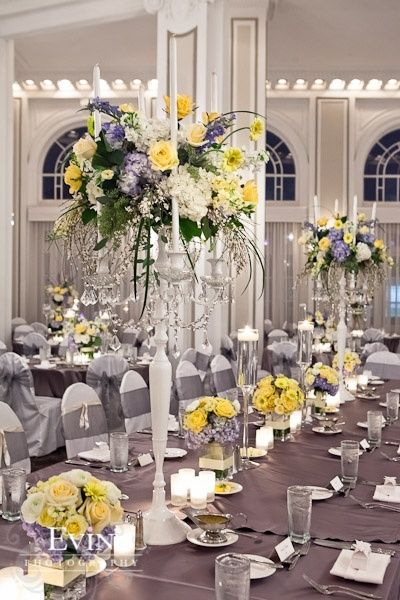 Yellow and gray wedding centerpieces image collections wedding grey and yellow wedding centerpieces images wedding decoration ideas junglespirit Image collections
