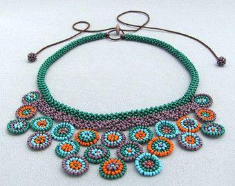 Semilla con cuentas de collar joyería de arte por HANWImedicineArt