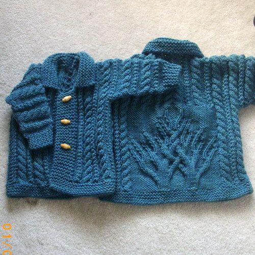 MacDara aran coat for baby or toddler PDF knitting by PurplePup
