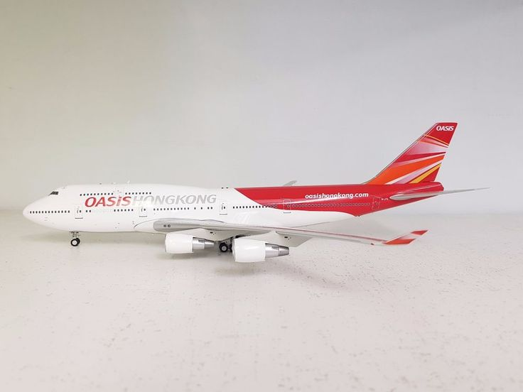 Inflight 200 Boeing 747-400 Oasis Hong Kong B-LFA (PW engines) (with stand) #Inflight200