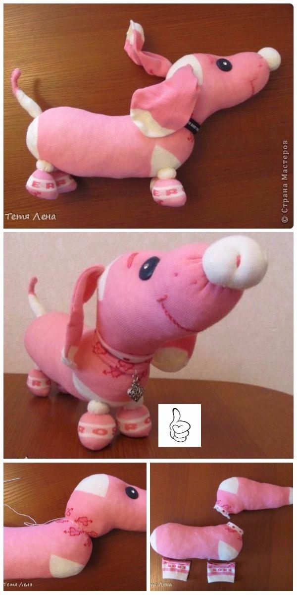 DIY Sock Toys Sew Patterns - DIY Sock Sausage Dog Tutorial