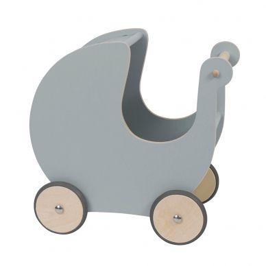 Sebra Puppenkinderwagen Holz Grau
