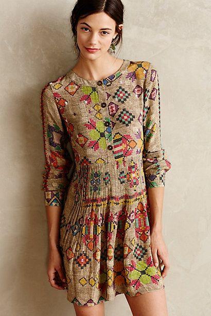Pintucked Prima Dress - anthropologie.com - by Hemant & Nandita