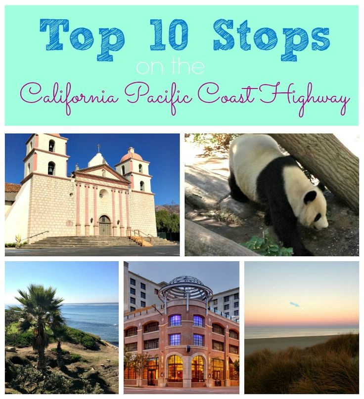 Discover 10 must-see stops along the California Pacific Coast Highway!