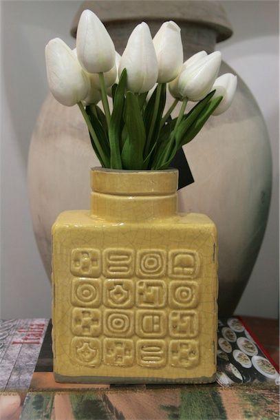 Have You Met Miss Jones - yellow palm springs vase
