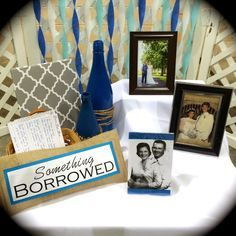 Bridal Shower Idea Something Old New Borrowed Blue