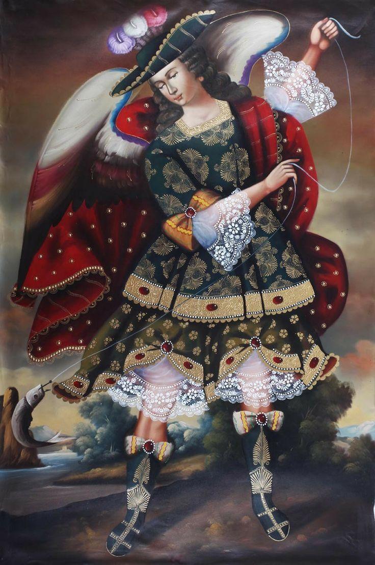 IMAGES OF CUZCO ANGELS | Archangel Raphael Angel Huge # ...