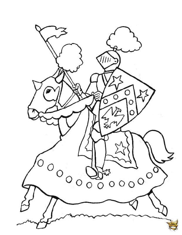 Les 25 meilleures id es de la cat gorie coloriage chevalier sur pinterest chateau fort moyen - Image du moyen age a imprimer ...