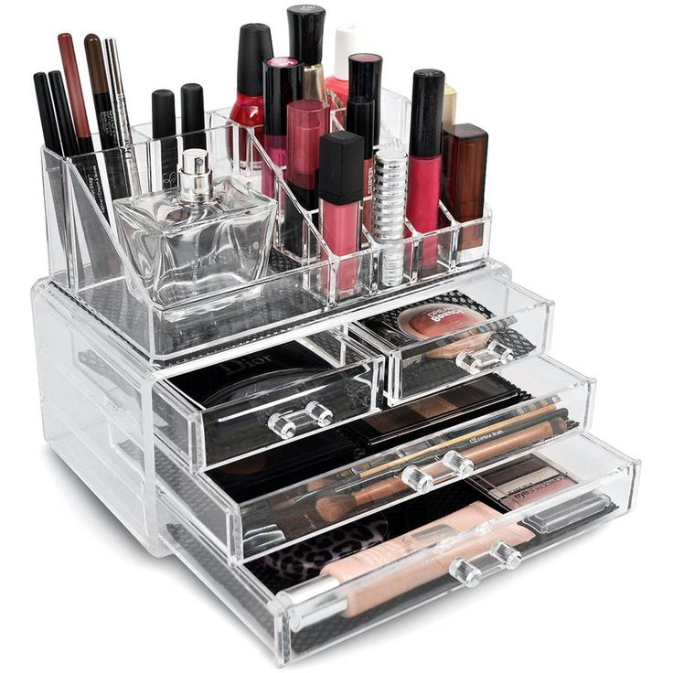 Free Shipping. Buy Sorbus Acrylic Cosmetics Makeup Organizer Case Storage Insert Holder Box at Walmart.com