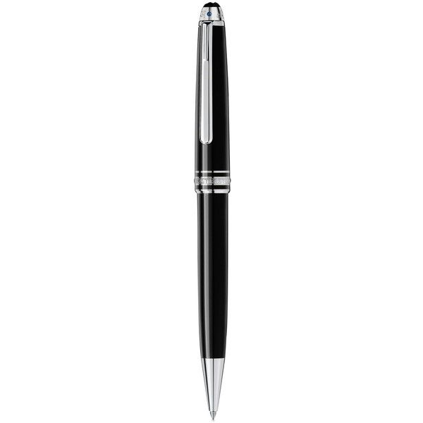 Montblanc Meisterstuck Unicef Platinum-Coated Classique Ballpoint Pen ($505) ❤ liked on Polyvore featuring home, home decor, office accessories, black, black ball point pen, black ballpoint pen, montblanc ballpoint pen, montblanc and montblanc rollerball pen