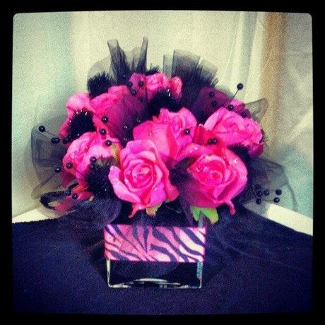 cute arrangement zebra #centerpiece #$14.99 #kreativecreations