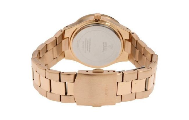 reloj dama guess ul1 genuino palo rosa disponible ahora