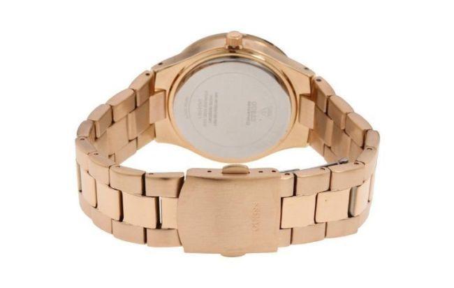 reloj dama guess ul1 genuino palo rosa disponible ahora