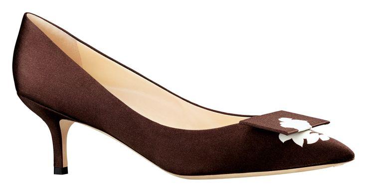 'Optimistic' satin kitten-heel shoes, Louis Vuitton, price on request; Louisvuitton.com