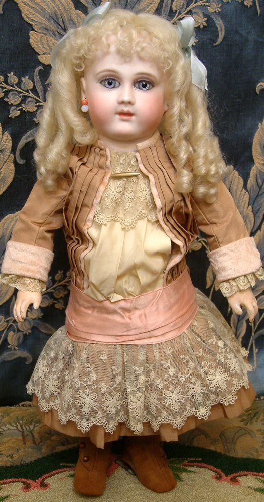 "18"" Extreo : Imely Rare Long Face Early French Schmitt Bebe Antique French Doll Circa 1879 STUNNING FACE!"