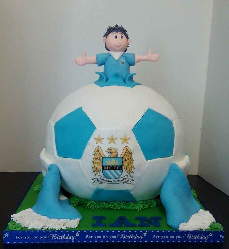 Man city football cake