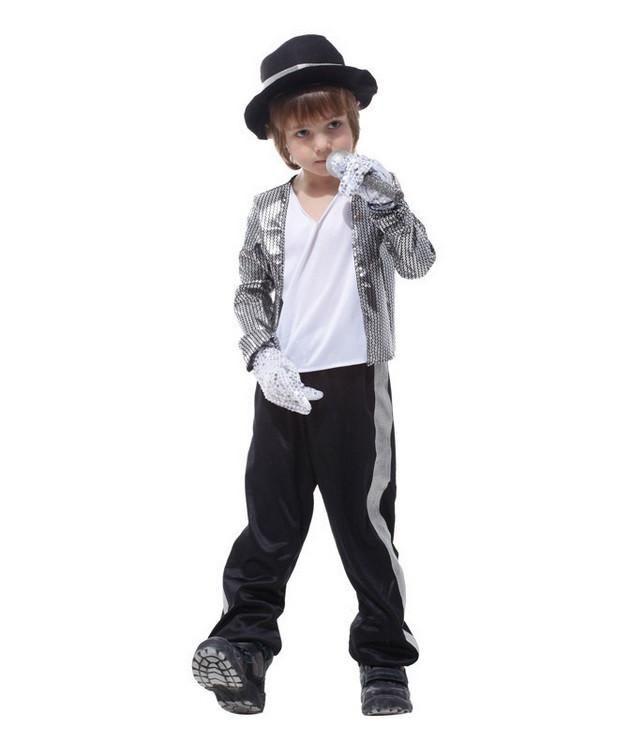 Boys Children Halloween Costume Michael Jackson