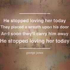 George Jones! These old George Jones songs remind me of my momma !!