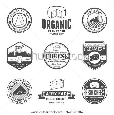 Dairy Farm Logo Fresh Cheese Stock Vectors & Vector Clip Art | Shutterstock