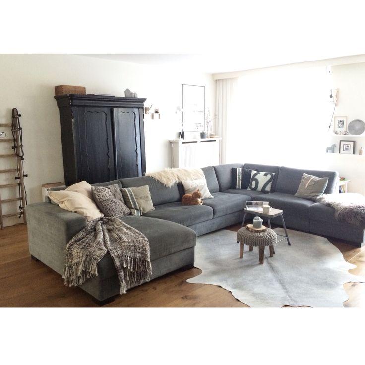 25 beste idee n over woonkamer indeling op pinterest familiekamer meubels en woonkamer decoraties - Woonkamer met hoekbank ...