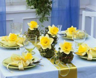 Mój piękny stół: Wiosenne dekoracje stołowe