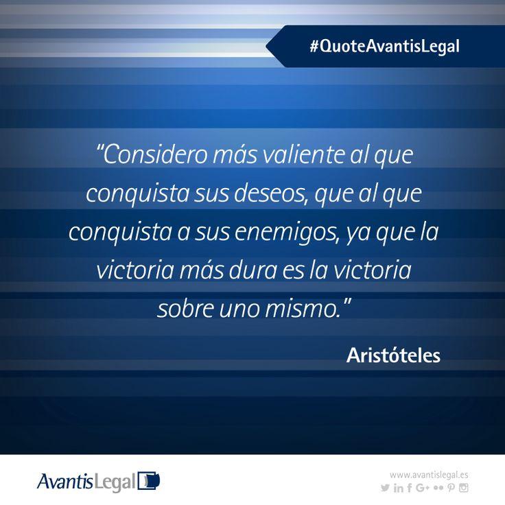 Hoy te traemos en #QuoteAvantisLegal una frase de Aristóteles y su visión sobre los retos personales.