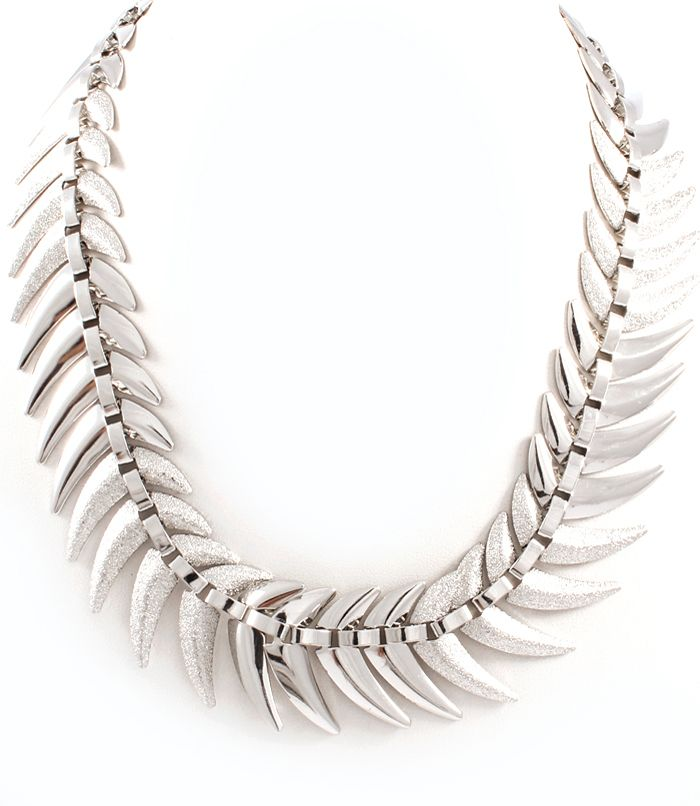 Shiny & Matt Fishbone Necklace at www.capricci.nl