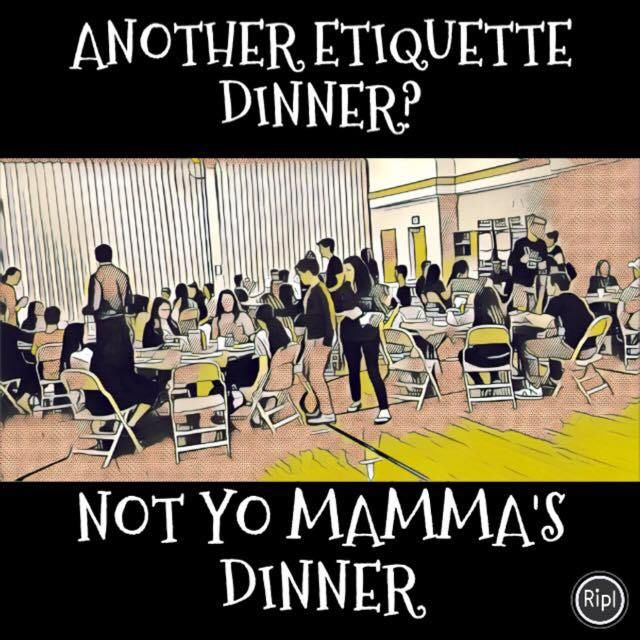 Another etiquette dinner? this combined activity was a super fun way to show what not to do using their own language, Not your typical etiquette dinner