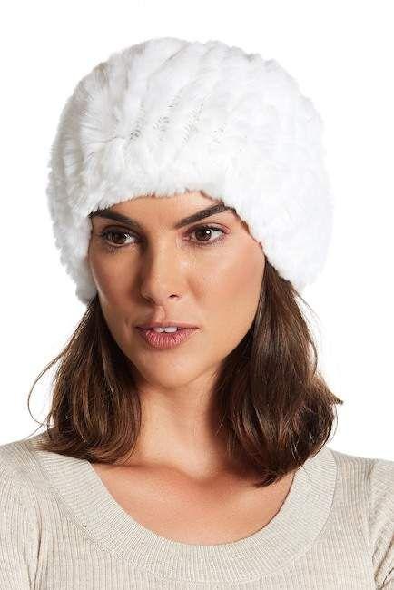 b2b9f74ee846c Surell Genuine Rex Rabbit Fur Slouchy Beanie... hats