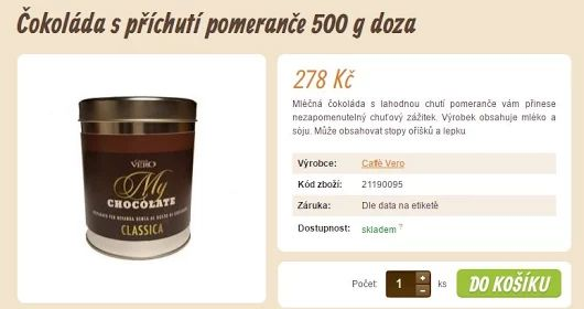 Čokoláda s příchutí pomeranče 500 g doza  >>> https://www.vito-grande.cz/p/cokolada-s-prichuti-pomerance-500-g-doza/
