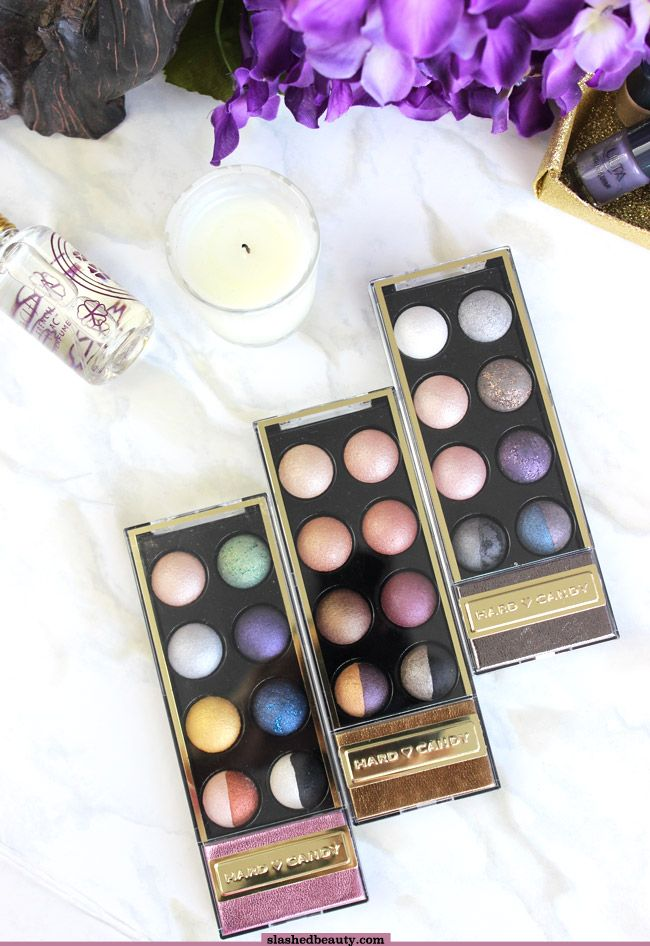 If you've been looking for baked eyeshadows that have good pigmentation, look no further than the Hard Candy Super Mod Eye Shadow Spheres. Click through for swatches!   Slashed Beauty